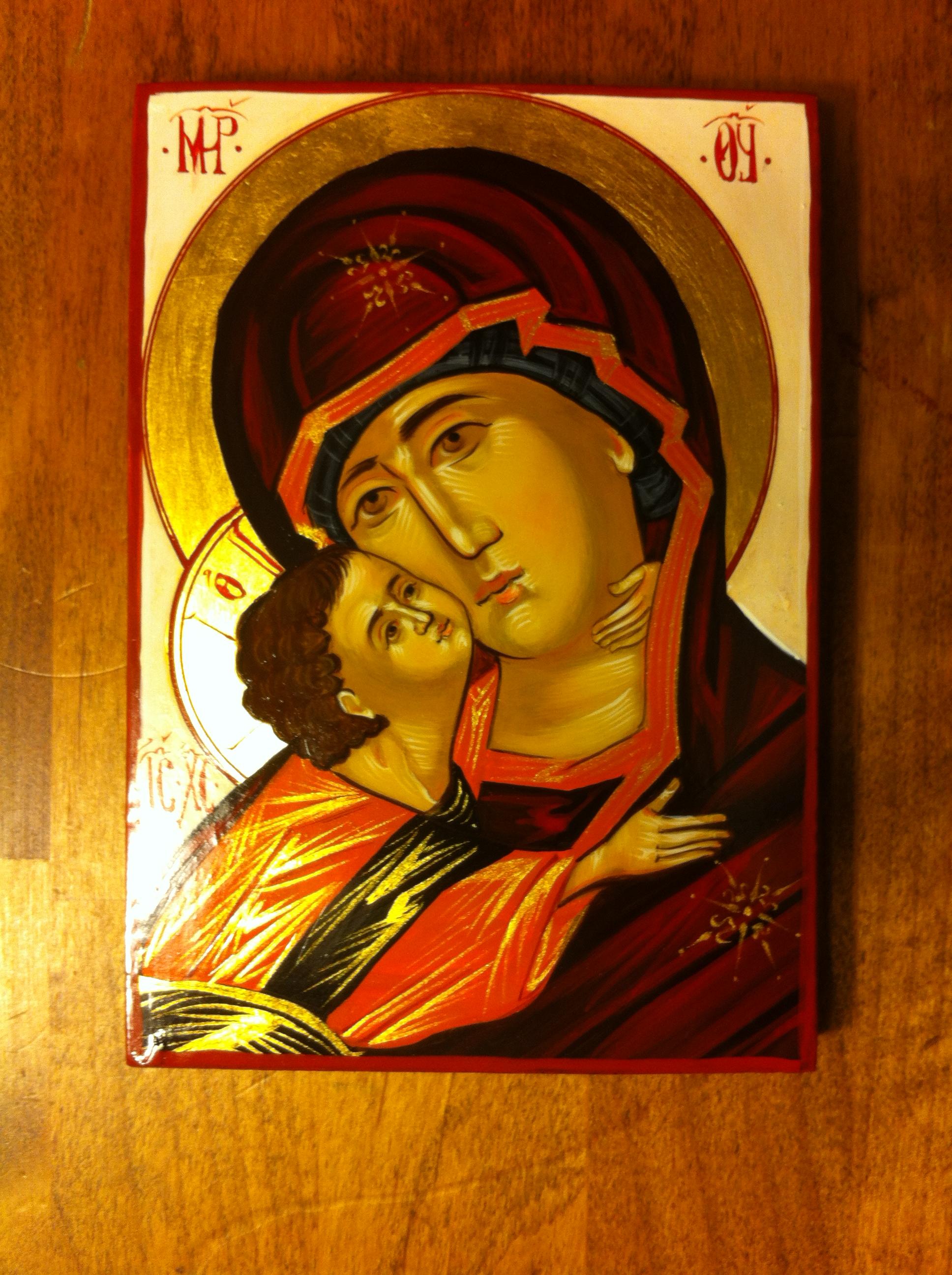 Orthodox icon of the Theotokos (Panagia)