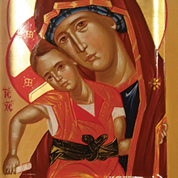 Orthodox, byzantine icon of the Theotokos